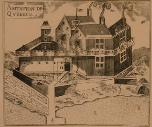 cartes historiques : abitation de quebec