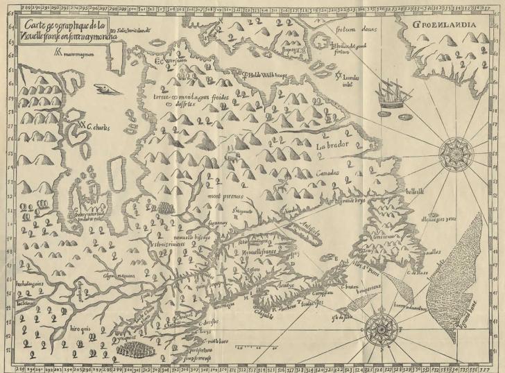 Carte Historique Canada.Cartes Geographiques Historiques De La Nouvelle France