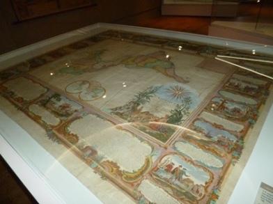 cartographie - carte amérique décorée