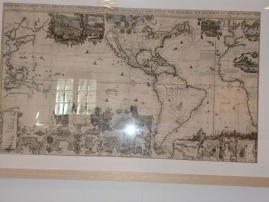Cartographie carte du monde ancienne