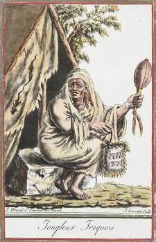 Iroquois : un chaman iroquien