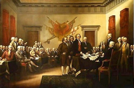 Incursions américaines John Trumbull declaration of independence