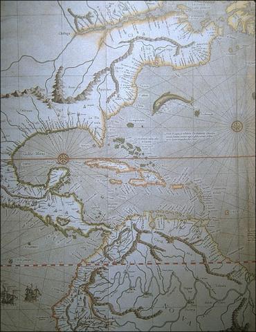 Carte géographique historique de Mercator