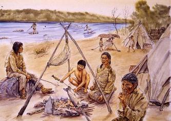enfants anglais peche algonquins