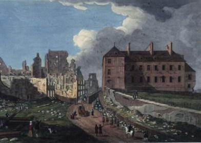 Capitulation de Québec - ruines de Quebec