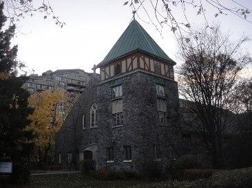 eglise st Raphael - novembre au Québec