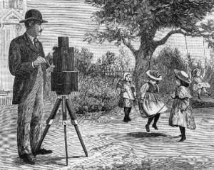 Projection du cinéma  - Premier appareil pour tournage