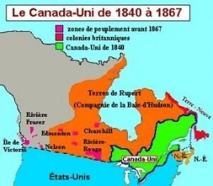 Carte géographique du Canada-Uni