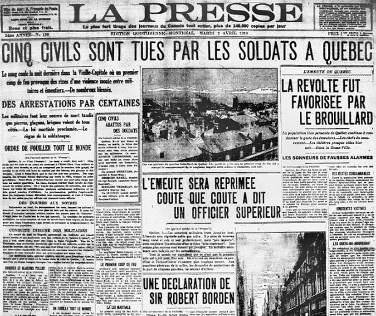 Émeute à Québec