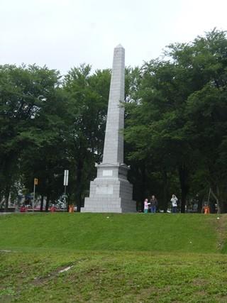 Monument Wolfe Montcalm