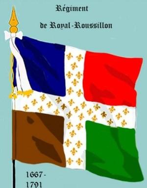 Drapeau du régiment Royal-Roussillon