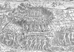 Siège de Trois-Rivières : Attaque d'un fort iroquois
