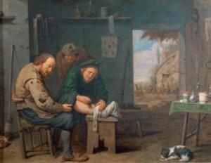 Médecine en Nouvelle-France : Traitement de la jambe malade