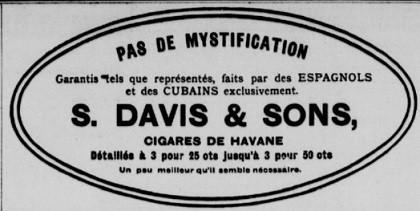 cigares cubains annonce