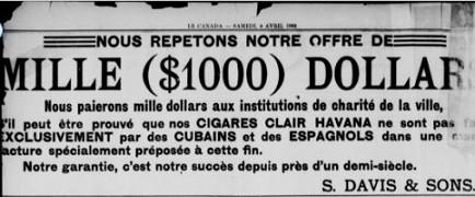cigares cubains davis et son