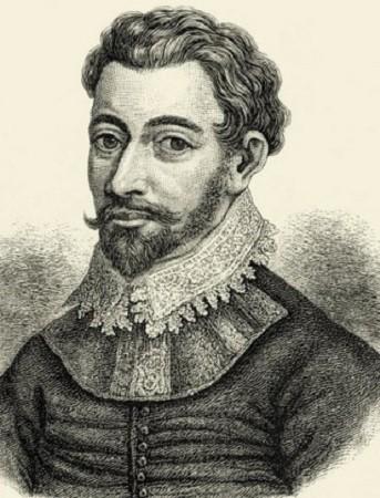 Sir Francis Drake, gravure de l'époque