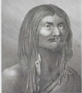 Une jeune fille Indienne des bords du détroit du Prince Guillaume, Vancouver, gravure d'après un dessin par John Webber.