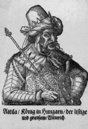 Attila, gravure ancienne