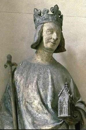 Charles V, sculpture ancienne. Image libre de droits.