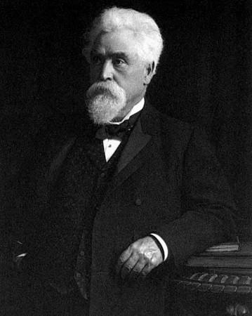 Sir Hiram Maxim. Portrait de l'époque. Image libre de droits.