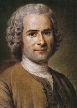 Jean-Jacques Rousseau. Portrait de l'époque, image libre de droits.